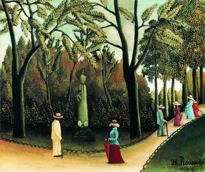 Люксембургский сад. Памятник Шопену. 1909