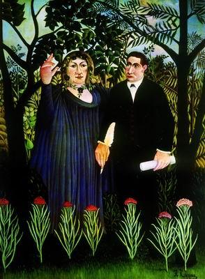 Муза, вдохновляющая поэта (Портрет поэта Гийома Аполлинера и художницы Мари Лорансен). 1909