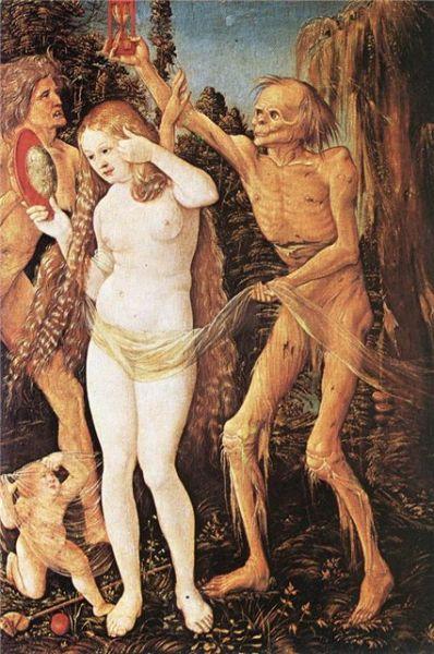 Ганс Бальдунг ( Hans Baldung) (умер 1545). Три возраста женщины и Смерть (1509-11)