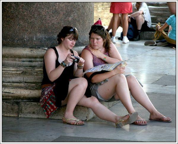 У Пантеона. Юные фотографы