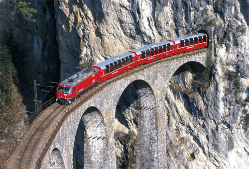 Ретийская железная дорога. Фото