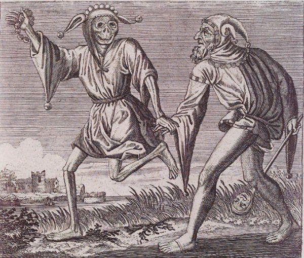 Шут и Смерть из Большой базельской Пляски Смерти, 1621 Uzi Dornai